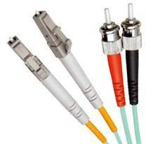 Multi Mode Duplex Fibre Patch Cable, LC-ST OM3