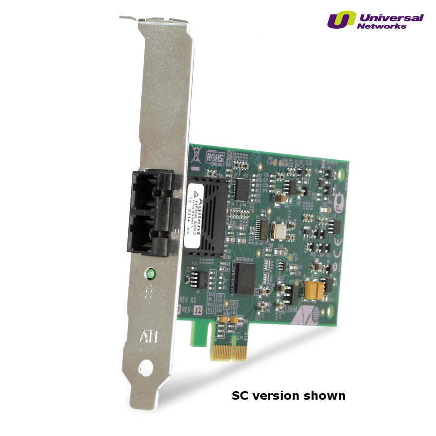 Allied Telesis 100Mb Fibre Network Adapter, 1x 100Base-FX MTRJ, PCIe (x1)