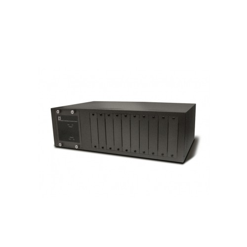 """LevelOne 19"""" Rack Mountable Chassis for up to 10x FVT & GVT Series Media Converters, Incl 2x PSU"""