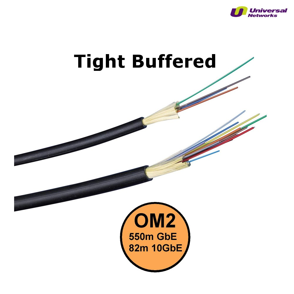 Multi Mode 50/125 OM2 Tight Buffered, Internal/External, LSZH, per metre