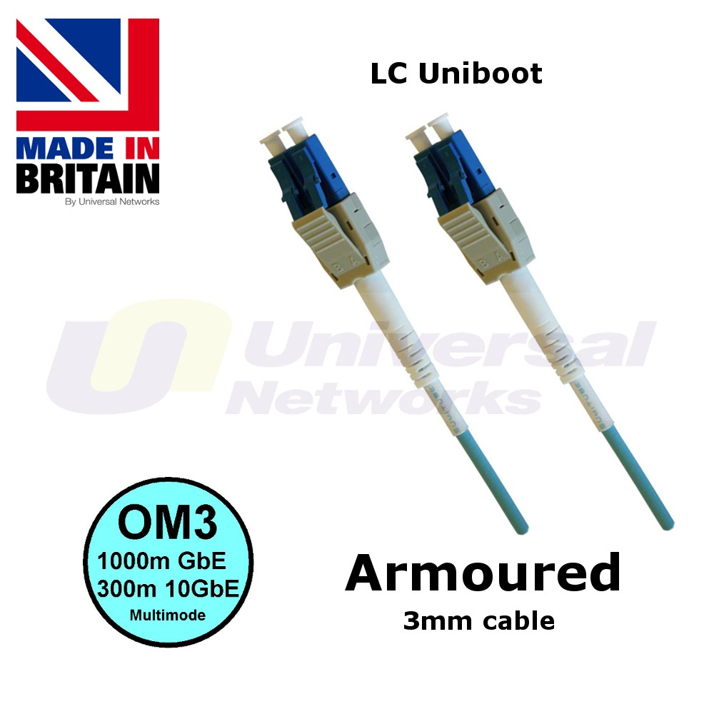 Armoured OM3 Patch Cable LC Uniboot