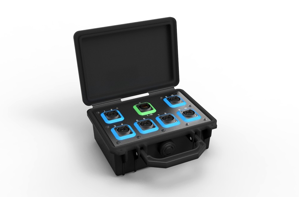 Neutrik opticalCON Breakout Box, pre loaded with 1x MTP and 6x DUO, Single Mode