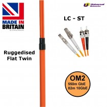 Ruggedised Multi Mode LSZH Fibre Cable OM2, LC-ST
