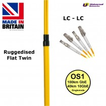 Ruggedised Single Mode LSZH Fibre Cable, LC-LC