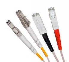 Multi Mode Duplex Fibre Patch Cable, LC-SC OM2.