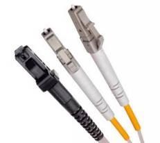 Single Mode Duplex Fibre Patch Cable, 9/125, LC-MTRJ.