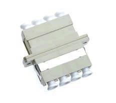 LC-LC Adapter, Multi-Mode, SC Duplex Foot-Print, Phosphor Bronze Sleeve, Quadplex