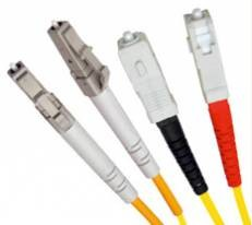 Single Mode Duplex Fibre Patch Cable,  LC-SC OS1