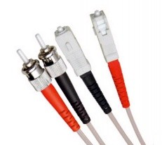 Armoured OM2 LSZH Fibre Patch Cable, ST-SC