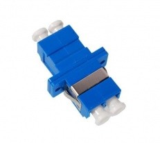 LC-LC Adapter, Single-Mode, SC Simplex Foot-Print, Ceramic Sleeve, Duplex