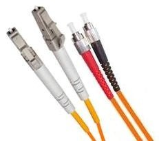 Armoured OM1 LSZH Fibre Patch Cable, LC-FC