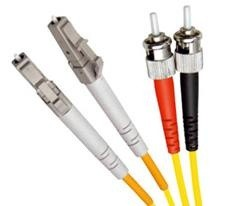 Single Mode Duplex Fibre Patch Cable, LC-ST OS1