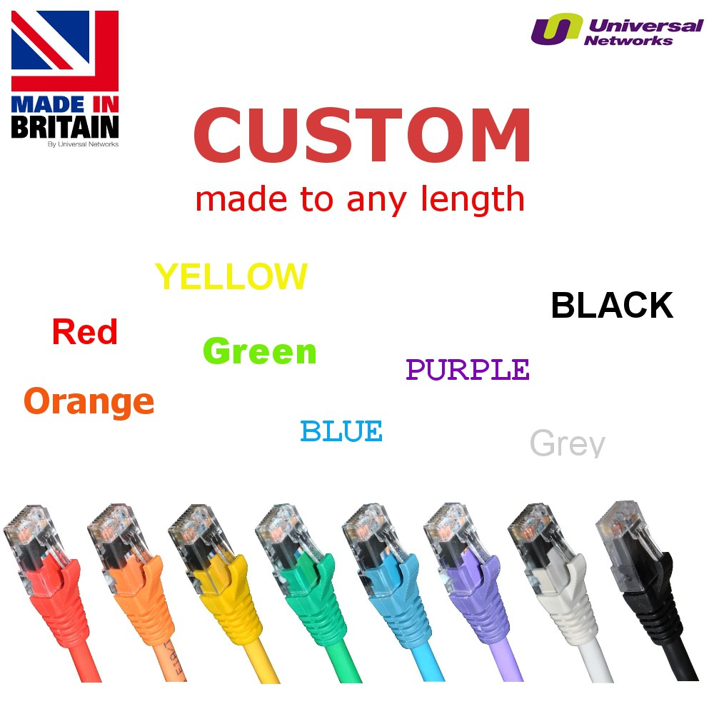 Category 5e LSZH Unshielded UTP, 8 Colours, any length