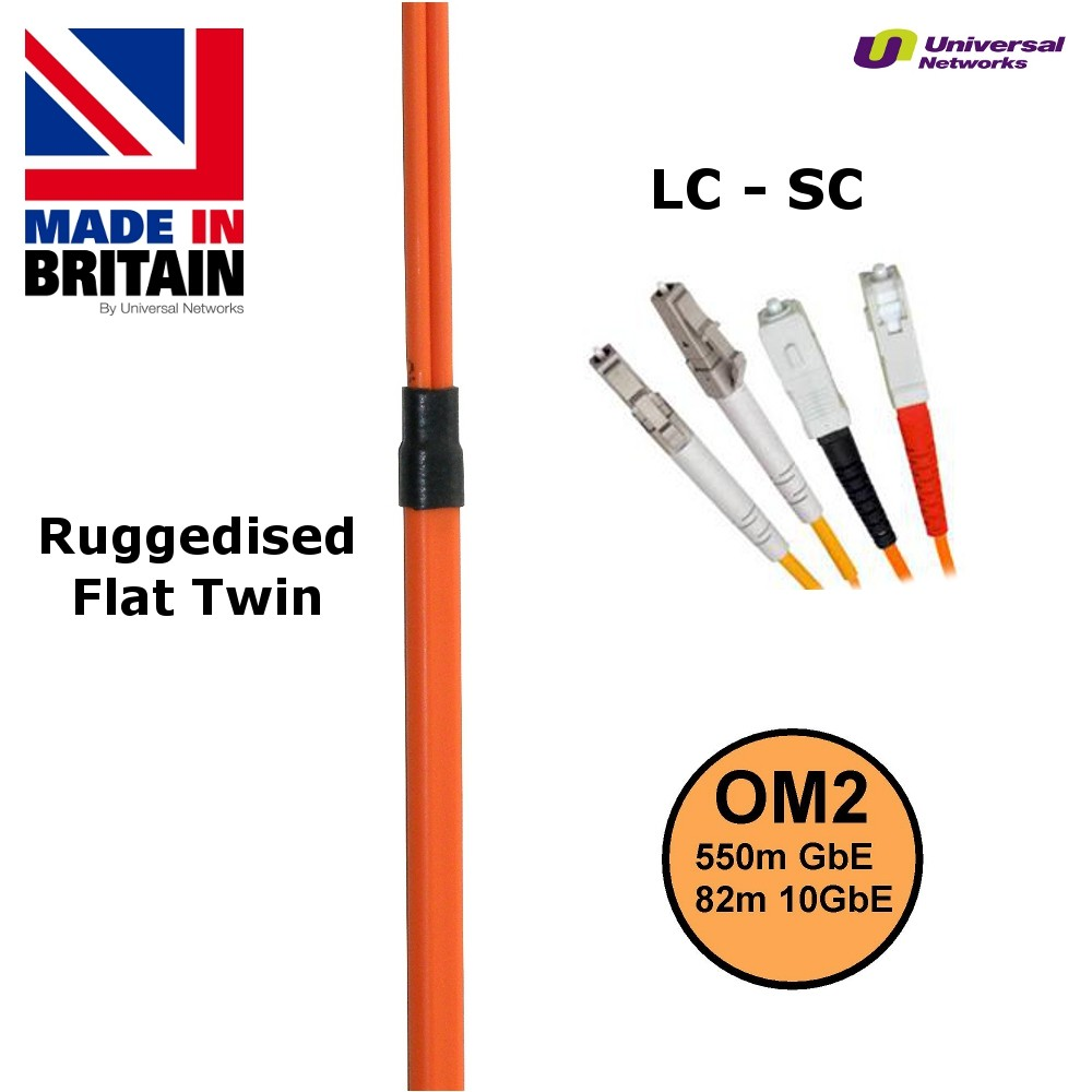 Ruggedised Multi Mode LSZH Fibre Patch Cable LC-SC