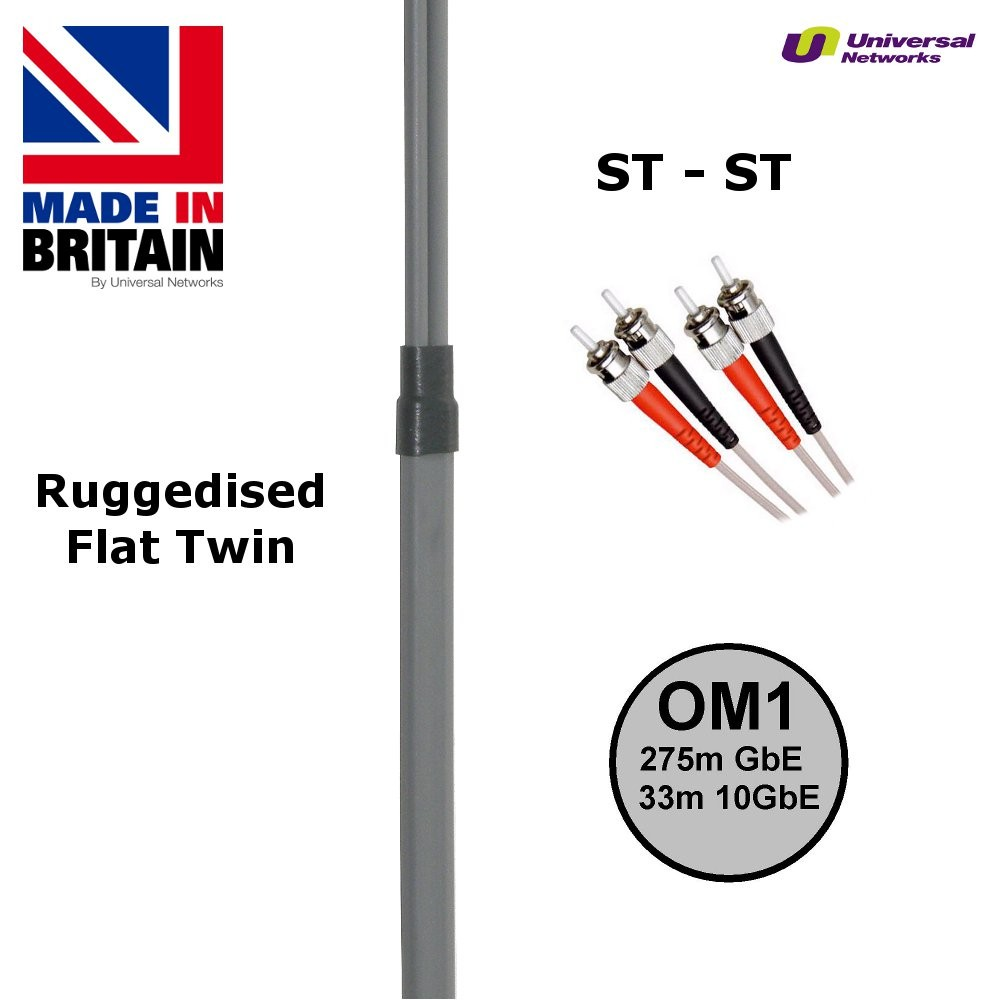 Ruggedised Multi Mode LSZH Fibre Patch Cable ST-ST