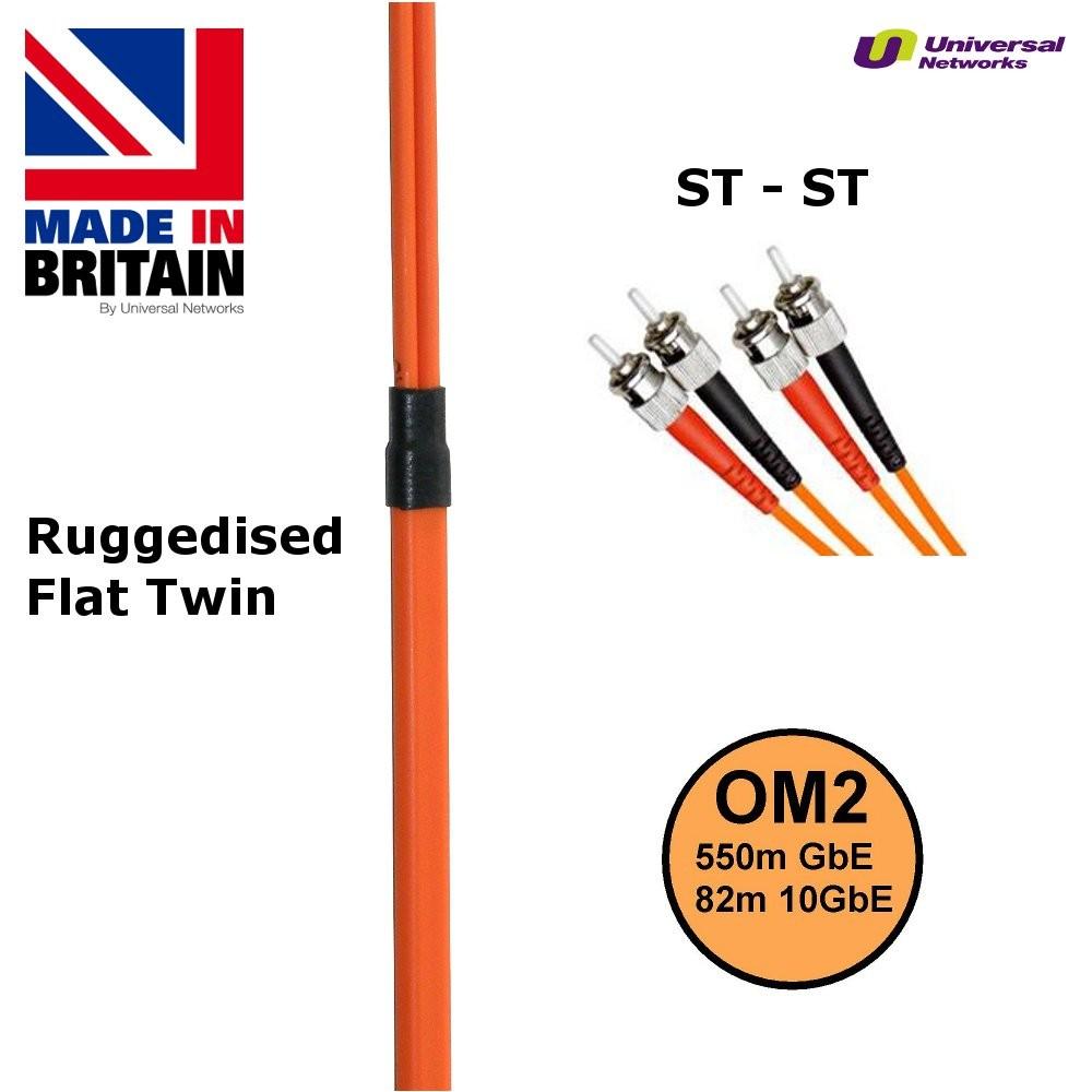 Ruggedised Multi Mode LSZH Fibre Patch Cable ST-ST