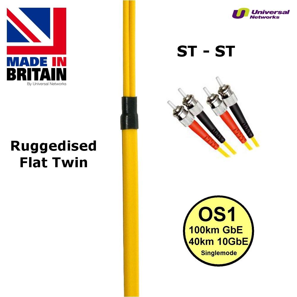 Ruggedised Single Mode LSZH Fibre, 9/125, ST-ST