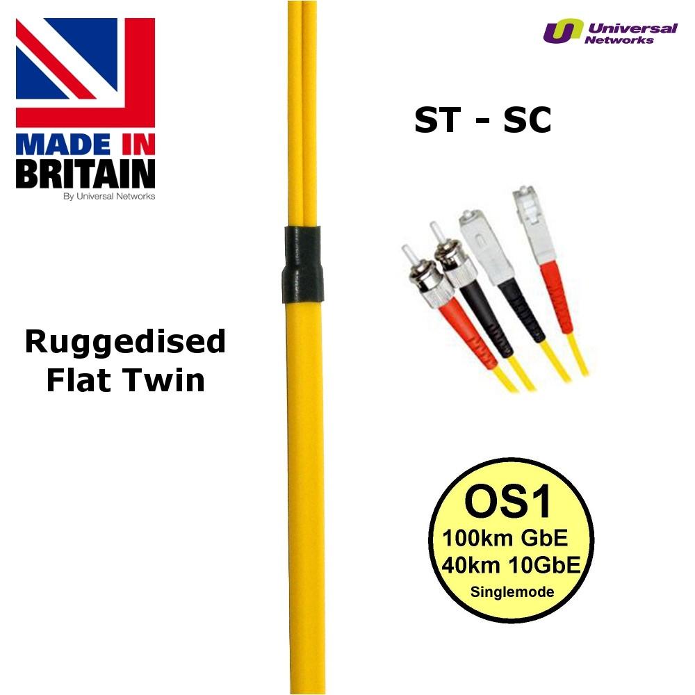 Ruggedised Single Mode LSZH Fibre, 9/125, ST-SC