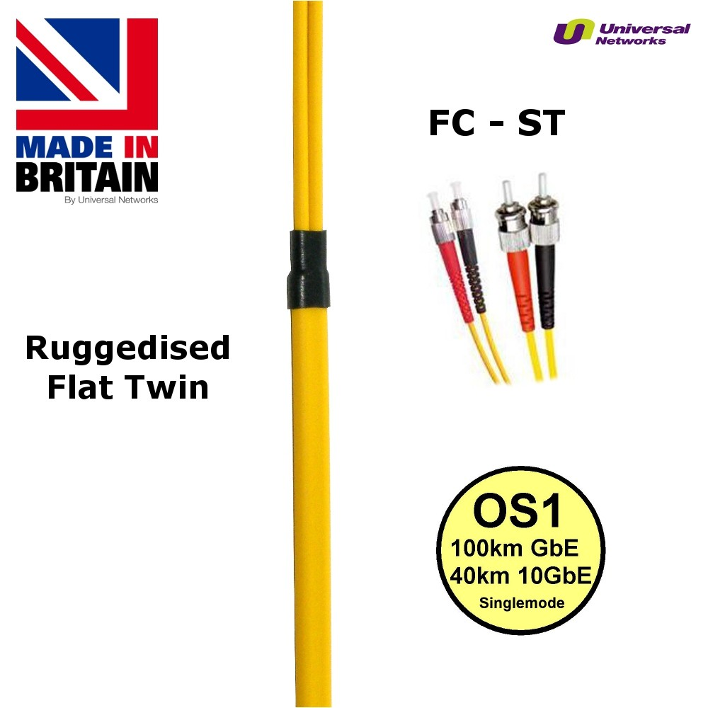 Ruggedised Single Mode LSZH Fibre, 9/125, ST-FC