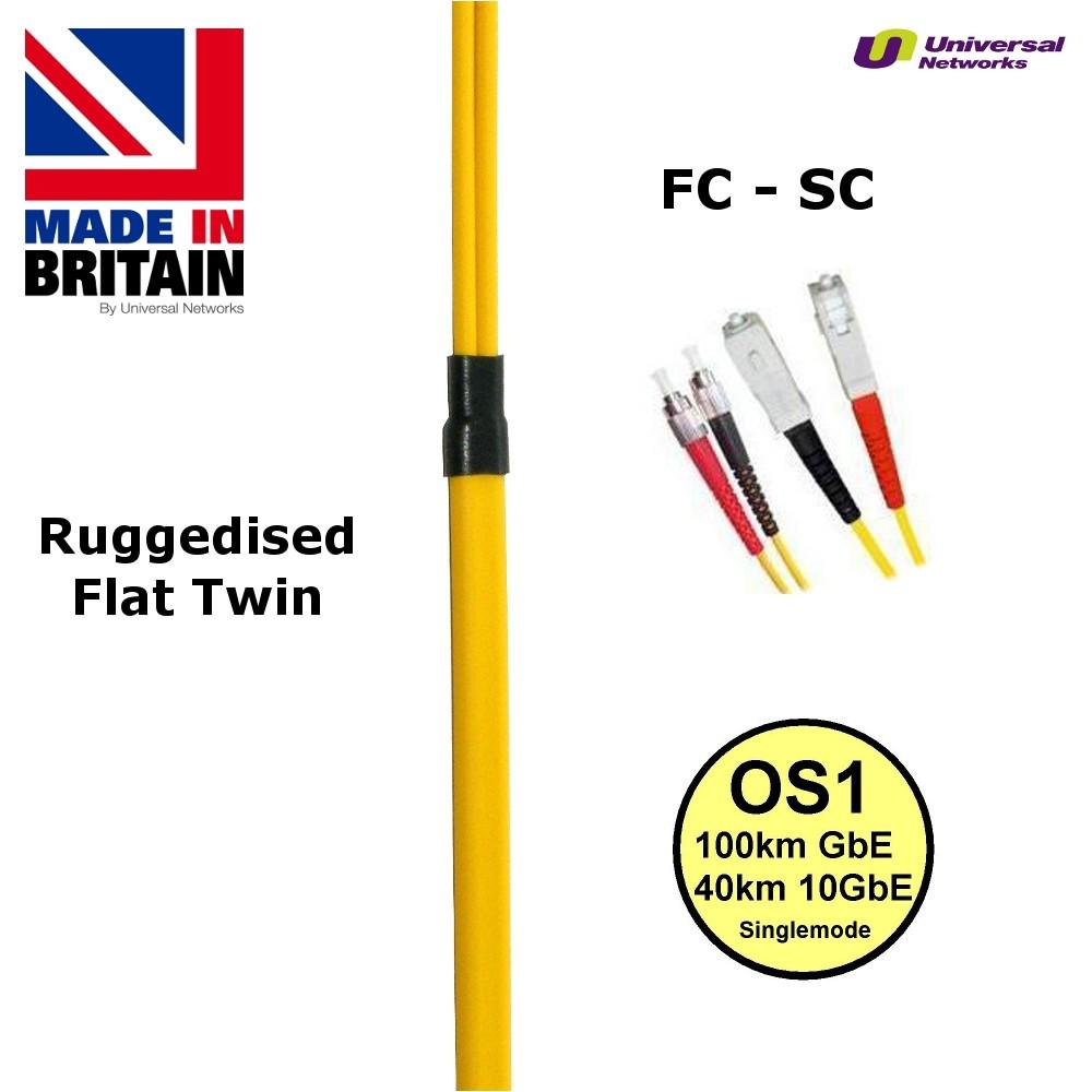 Ruggedised Single Mode LSZH Fibre, 9/125, SC-FC