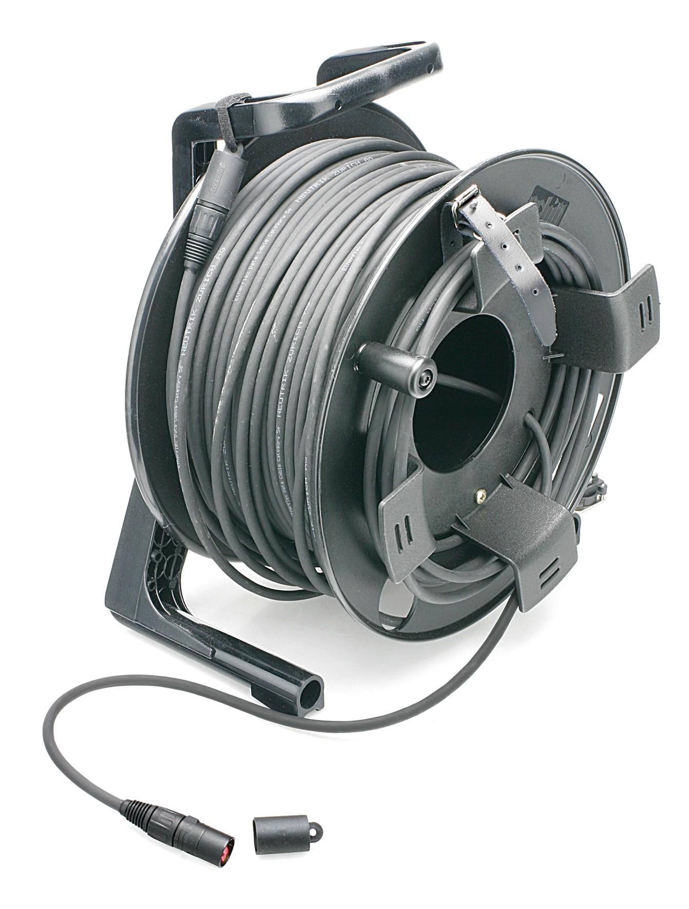 etherFLEX Tour Grade Cat5e Double Jacketted SFTP Cable Assembly, 2x Neutrik etherCON NE8MCB-1 RJ45 Plugs, includes GT310 Reel