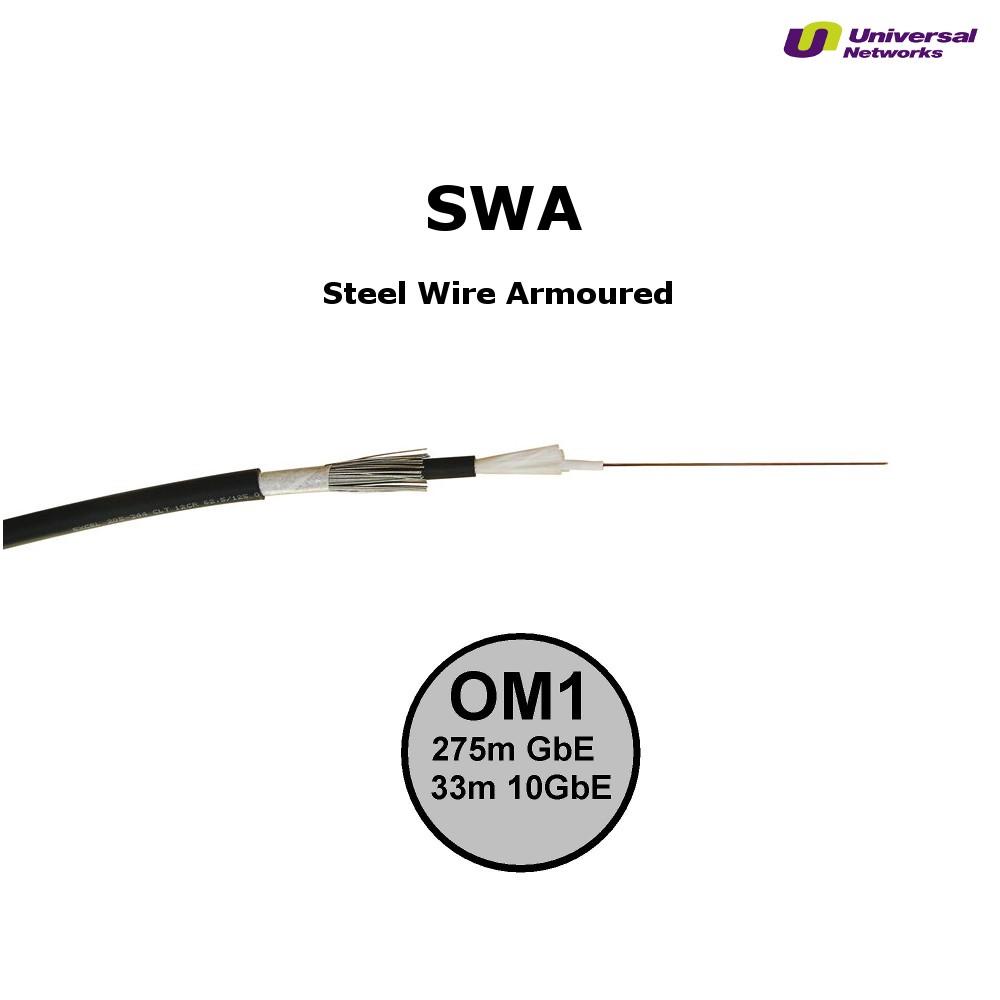 Steel Wire Armour OM1 Fibre