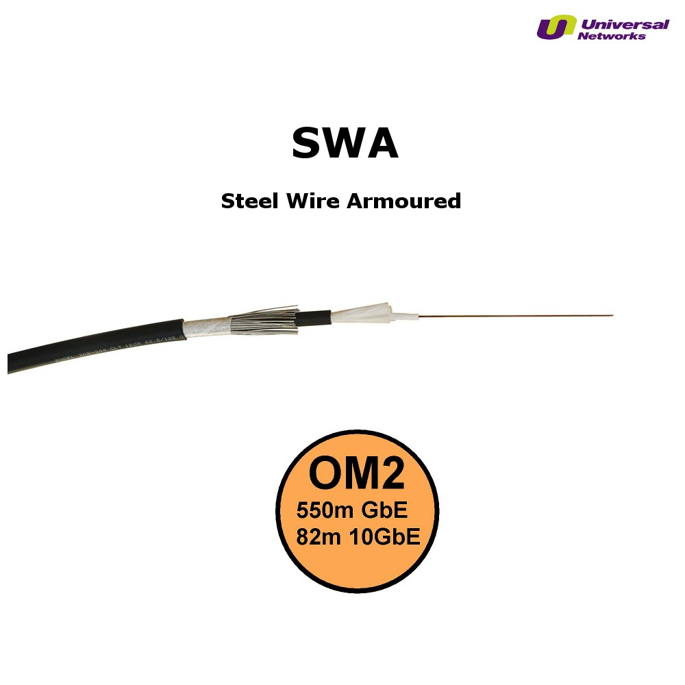Steel Wire Armour OM2 Fibre