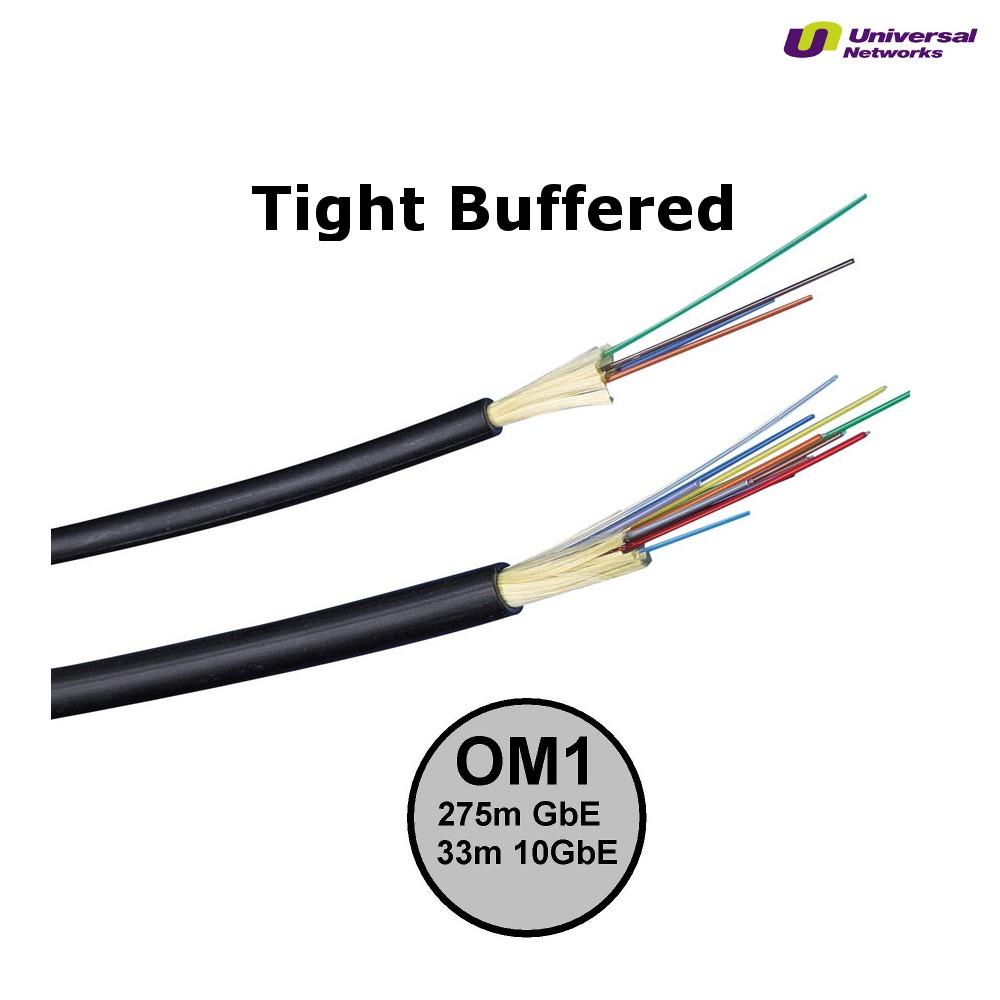 Multi Mode 62.5/125 OM1Tight Buffered, Internal/External, LSZH, per metre