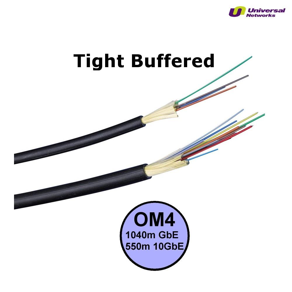 Multi Mode 50/125 OM4 Tight Buffered, Internal/External, LSZH, per metre