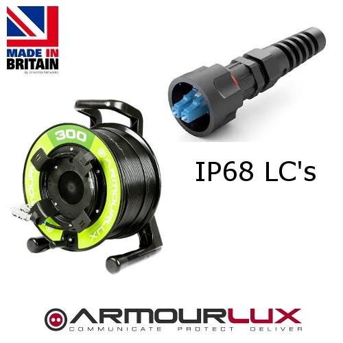 ArmourLux300 Armoured 4 Core LC IP68 Plugs OM3