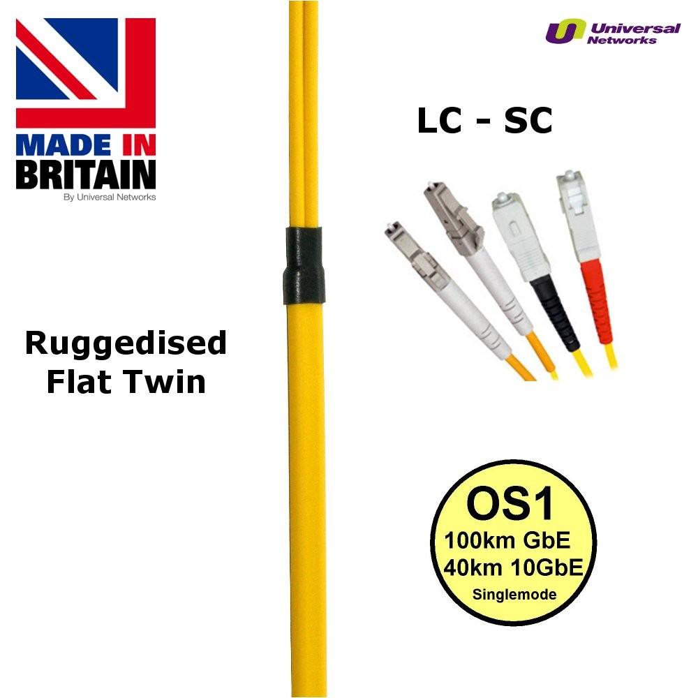 Ruggedised  Fibre Cable Single Mode  LC-SC