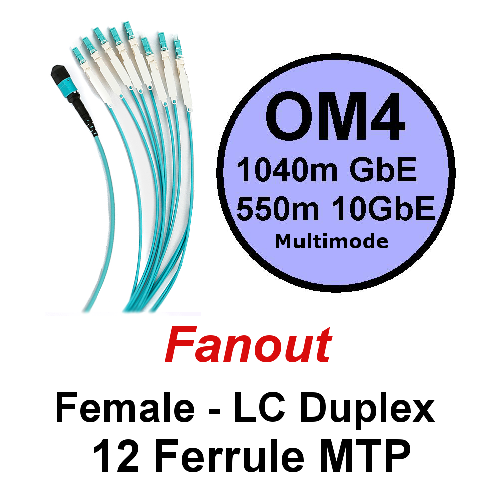 Lite Linke 12 Fibre OM4 Fanout - LCHD Duplex