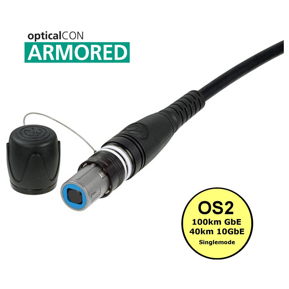 Neutrik opticalCON QUAD ARMOURED single mode