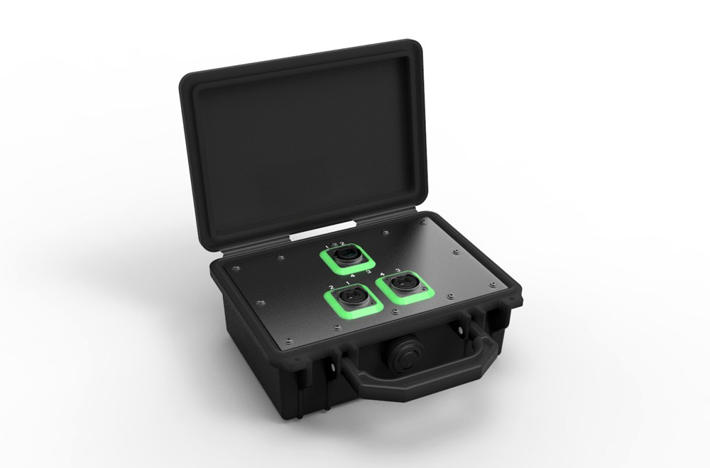 NO4SABB2D Neutrik OpticalCon Breakout Box