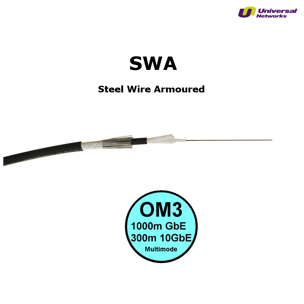 Steel Wire Armour OM3 Fibre