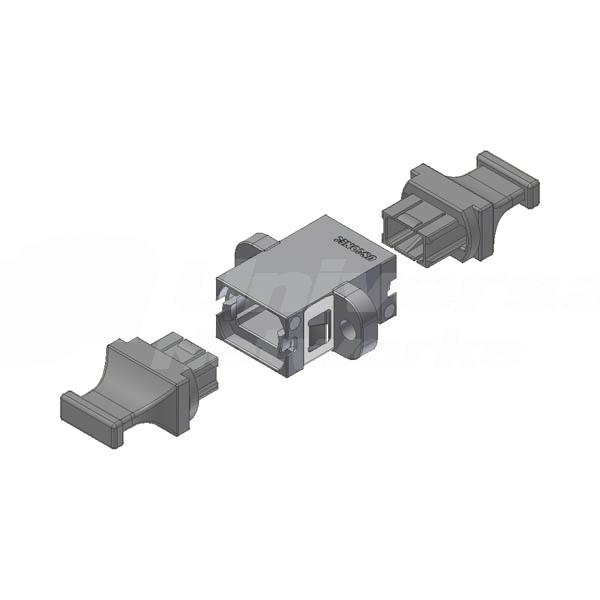 MTP® / MPO Fibre Coupler Aligned Keyway, Grey