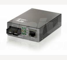LevelOne Media Converter, 1x 10/100Base-TX RJ45, 1x 100Base-FX SC Multi-Mode, 2km, can be PoE Powered