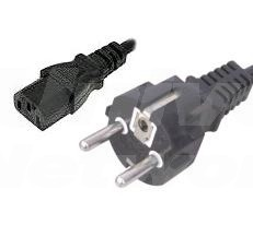 EU Mains 16A Plug to Female IEC 320 C13, 2m