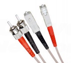Multi Mode Duplex Fibre Patch Cable, ST-SC OM1