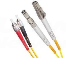 Armoured Single Mode LSZH Fibre Patch Cable, LC-FC