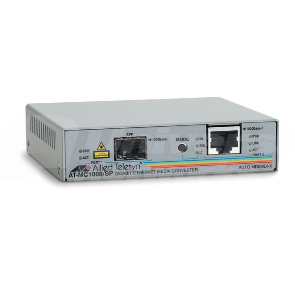 AT-MC1008/SP Allied Gigabit Media Converter