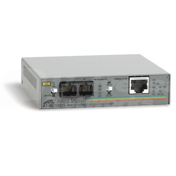 AT-MC102XL Allied 100Mb SC Fibre Media Converter