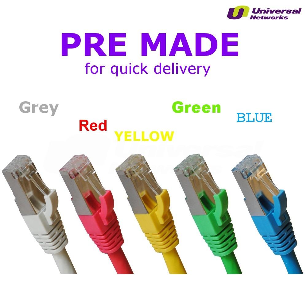 Category 5e PVC Shielded FTP, 5 Colours, 0.5m-20m