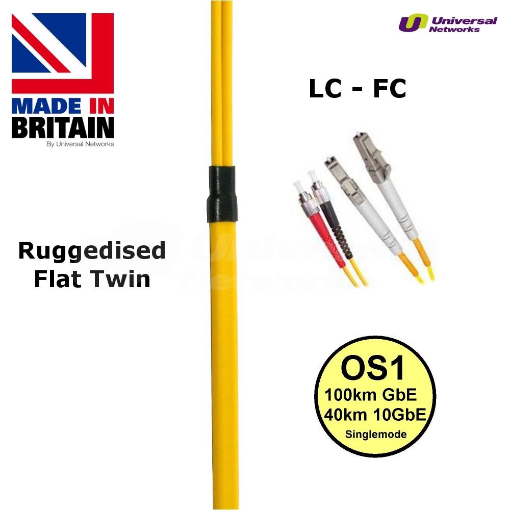 Ruggedised Single Mode LSZH Fibre, 9/125, LC-FC