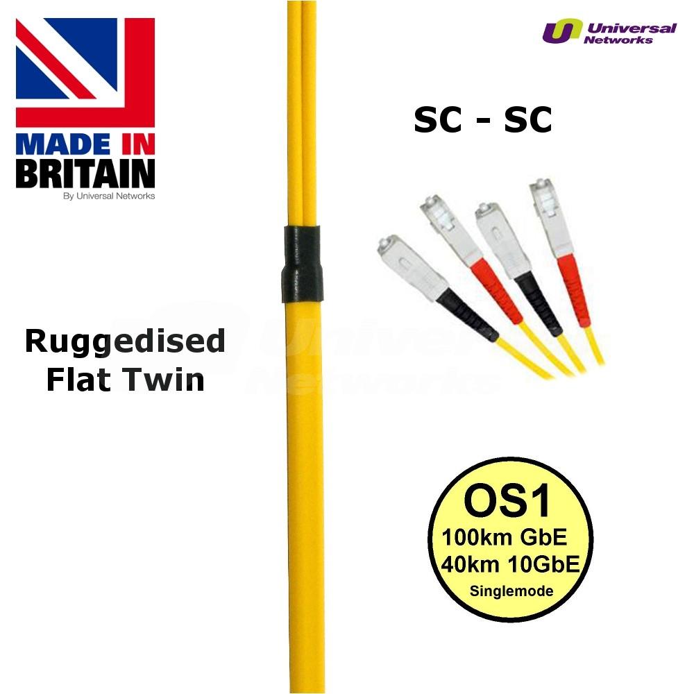 Ruggedised Single Mode LSZH Fibre, 9/125, SC-SC