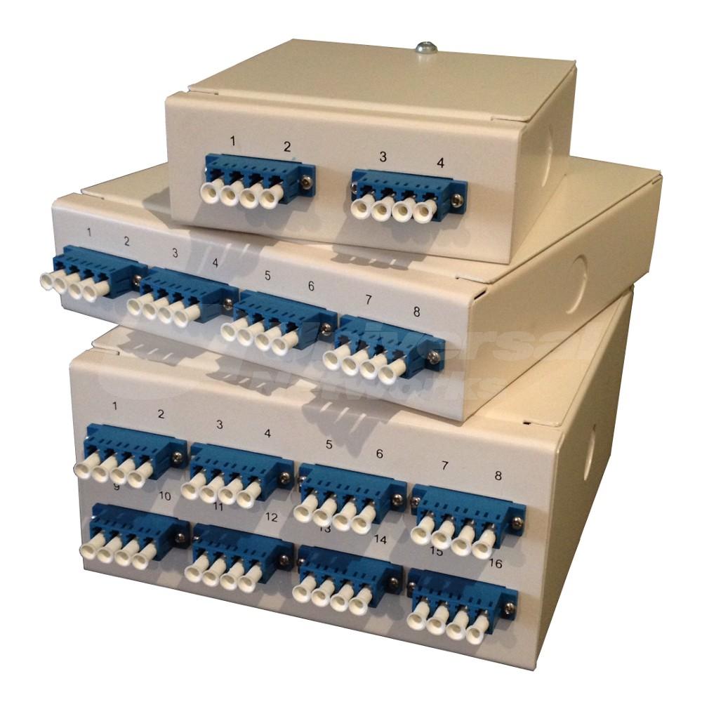 LC Quadplex Multi Mode Wall Mount Breakout Box