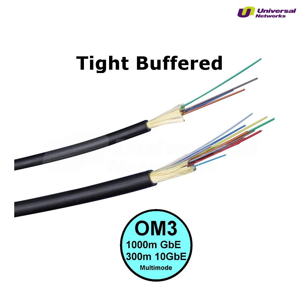 Multi Mode 50/125 OM3 Tight Buffered, Internal/External, LSZH, per metre
