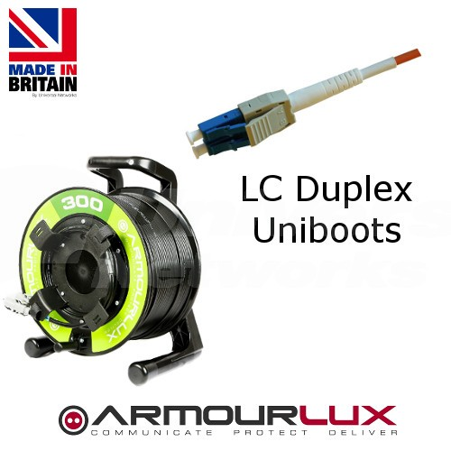 ArmourLux300 Armoured 2 Core LC Uniboot Plugs OM3