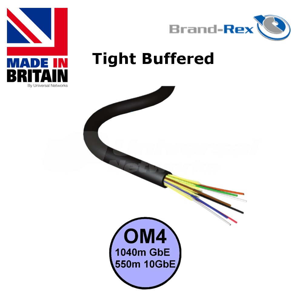 Brand-Rex Multi Mode OM3 Tight Buffered PDC Cable