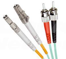 OM4 Multi Mode Duplex LSZH Fibre Patch Cable, LC-ST